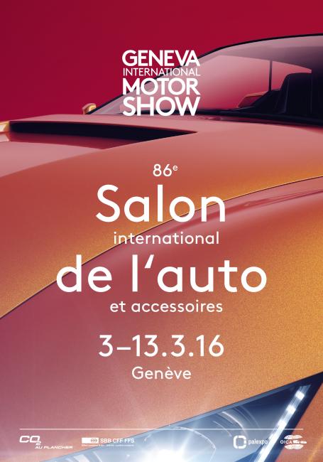 L 39 affiche officielle du salon de l 39 auto gen ve 2016 for Offre d emploi salon de l auto geneve