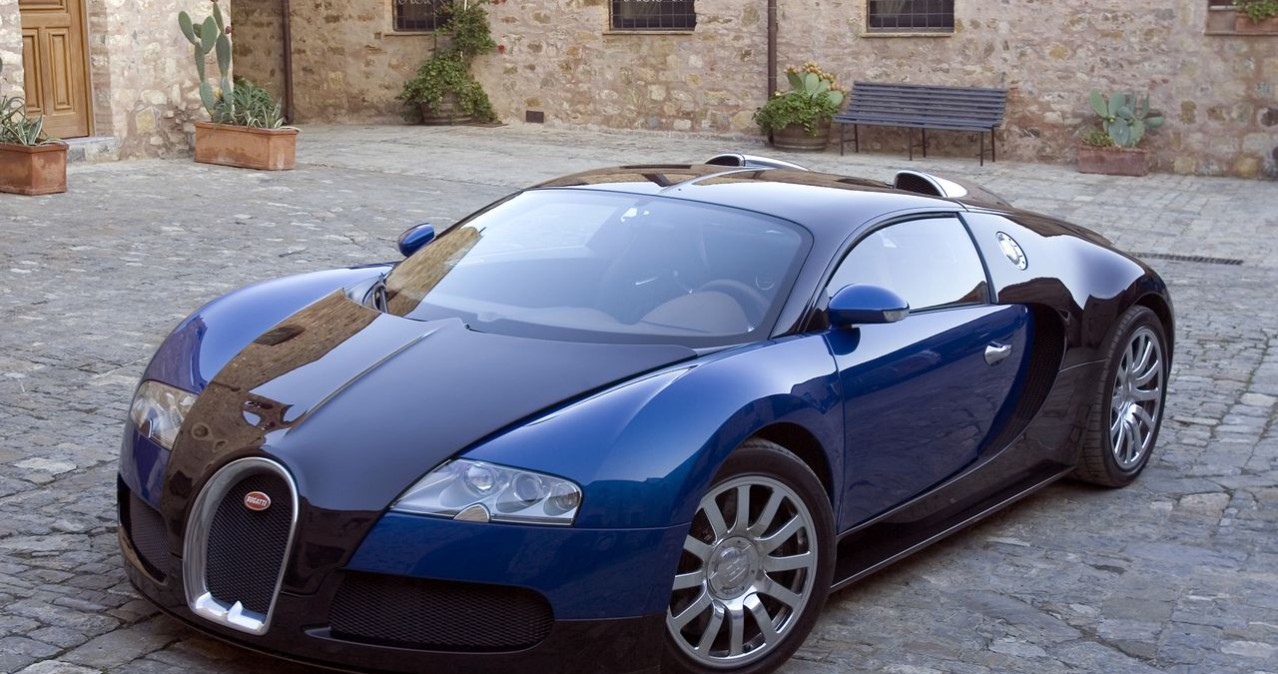 bugatti veyron bleue et noire