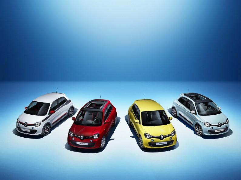 4 couleurs Renault Twingo
