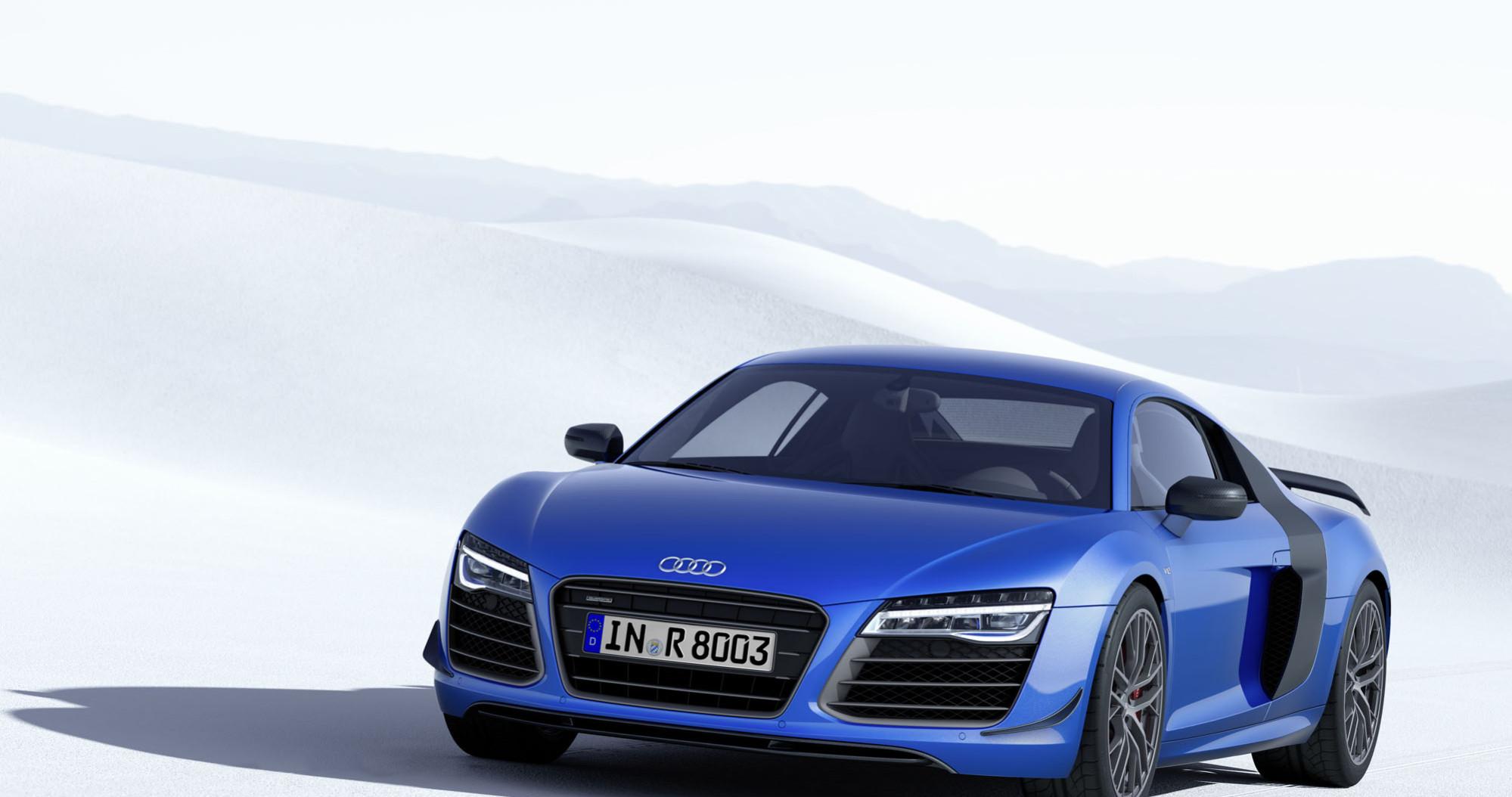 Audi R8 LMX bleue