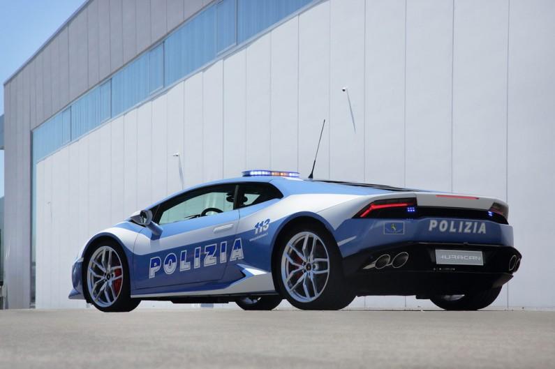 lamborghini police italienne arriere