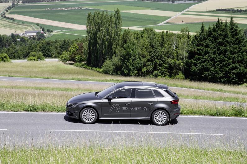 A3 Sportback e-tron latérale