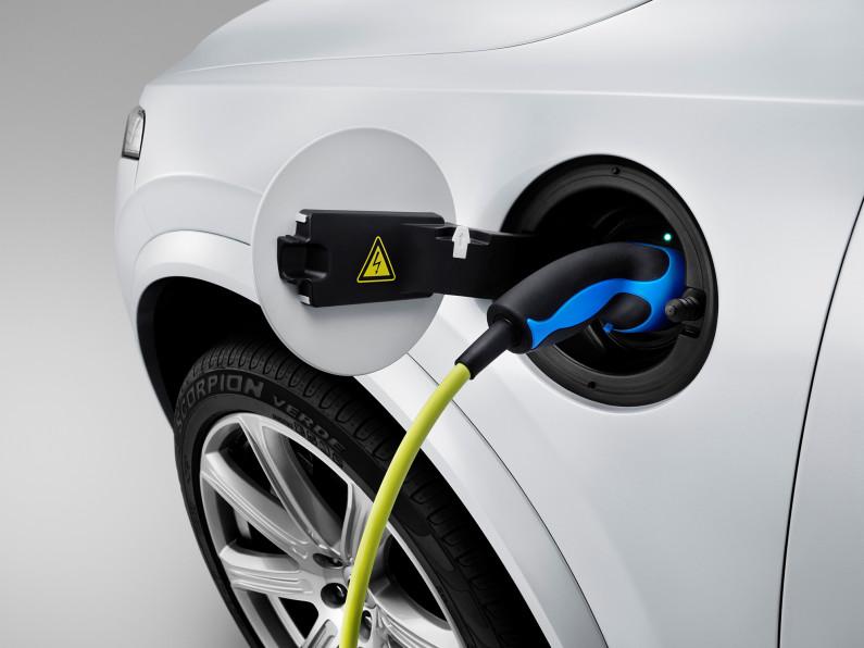 La prise rechargeable du Volvo XC90
