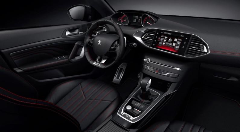 Intérieur de la Peugeot 308 GT