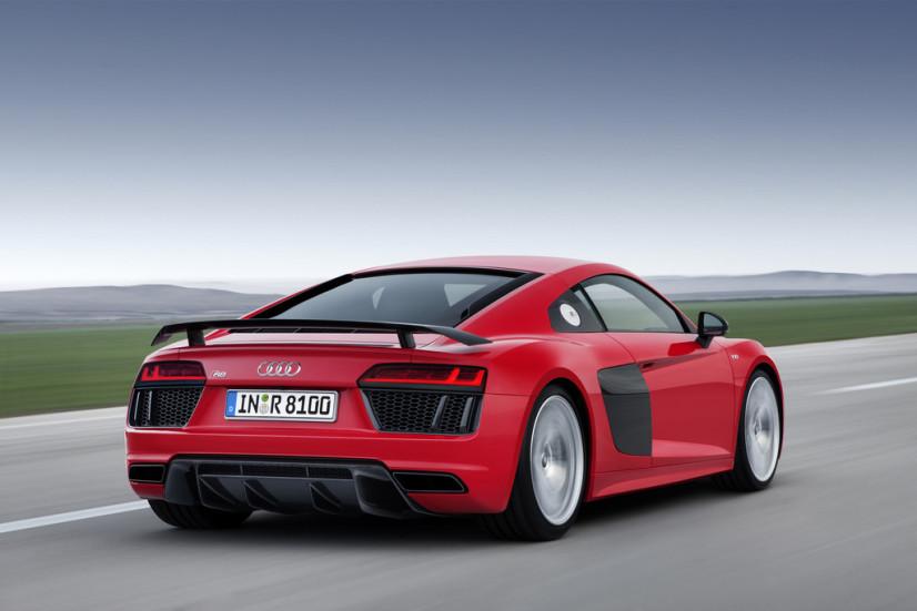 Audi R8 aileron escamotable
