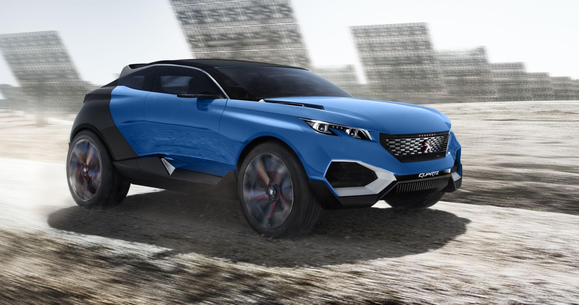 Peugeot Quartz Concept bleu