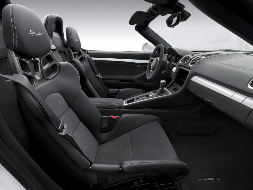 Porsche Boxster Spyder habitacle