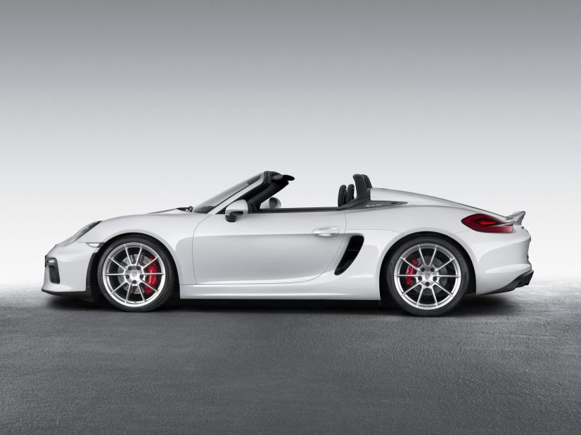 Porsche Boxster Spyder vue profil