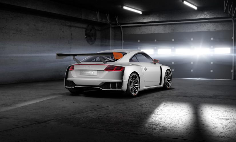 Vue arrière Audi TT Clubsport Turbo