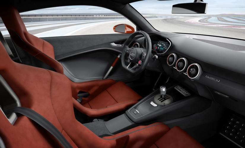 vue intérieur Audi TT Clubsport Turbo