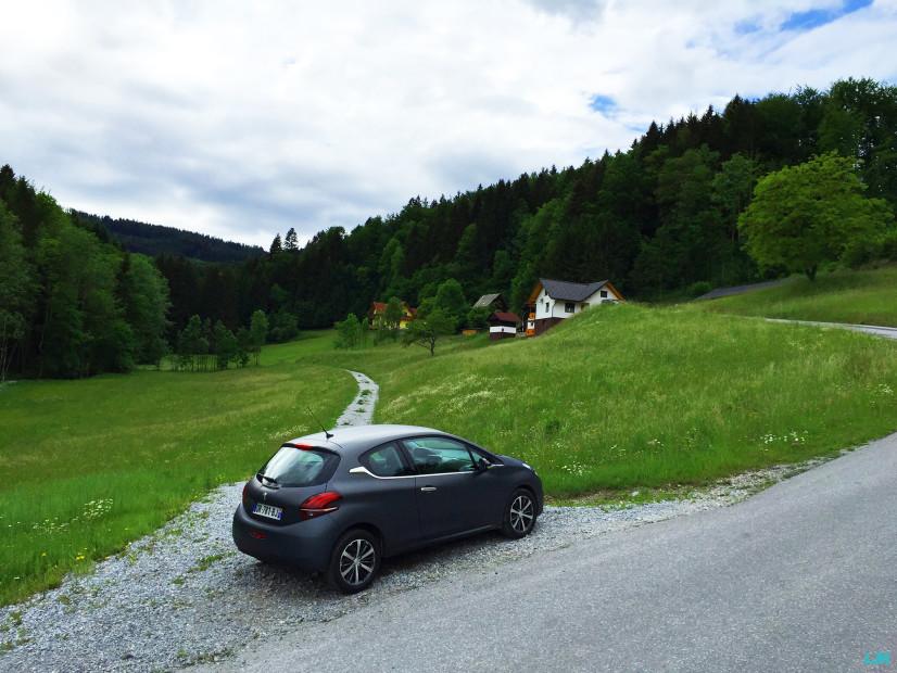 Vue arrière nouvelle Peugeot 208