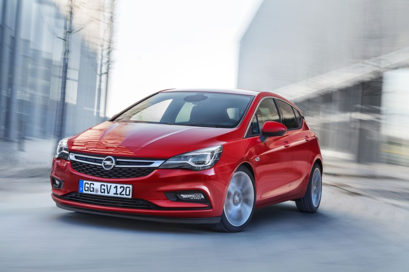 Vue avant Opel Astra 2015