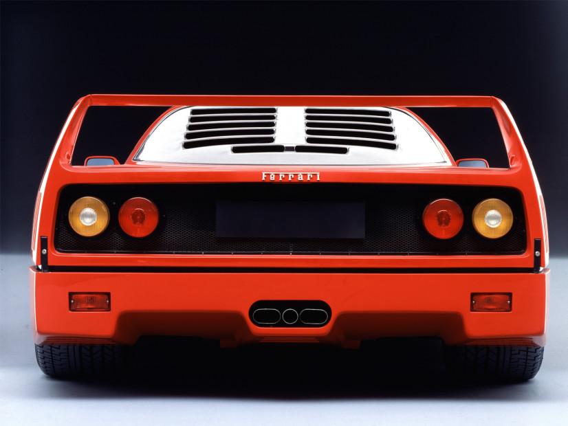 Ferrari F40 arrière