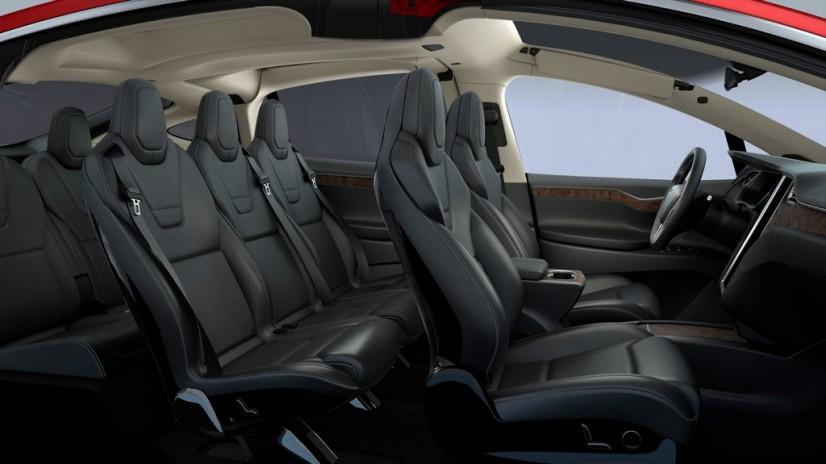 Tesla Model X intérieur