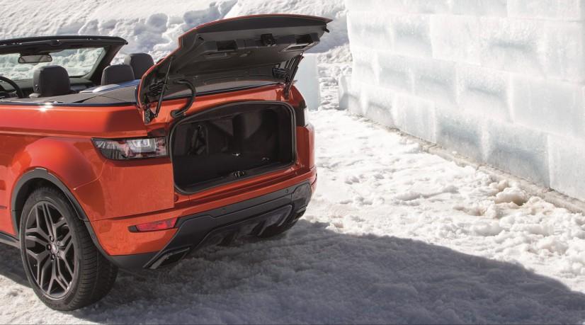 Range Rover Evoque Cabriolet coffre