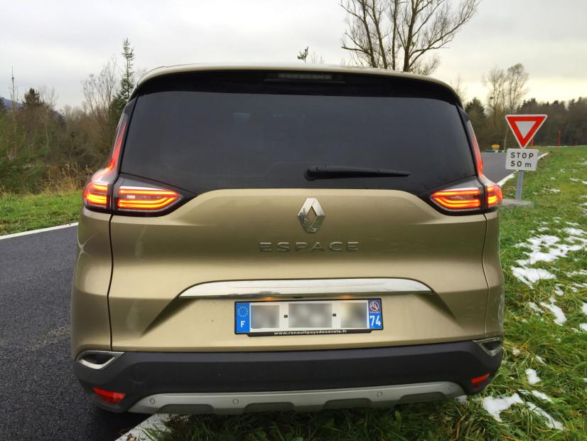 Vue arrière Renault Espace