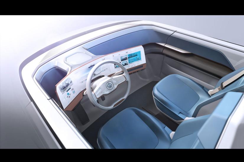 VW Budd-e Concept écran intérieur