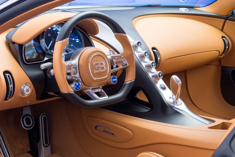 Le volant de la Bugatti Chiron