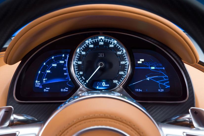 Le compteur de la Bugatti Chiron