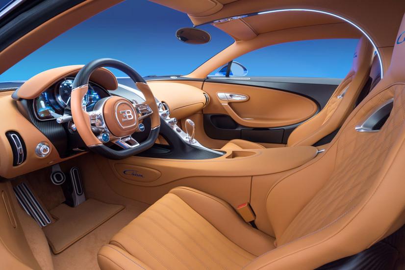 L'intérieur de la Bugatti Chiron