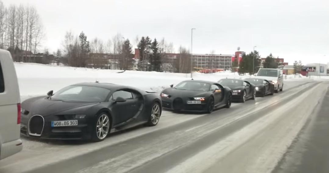 Bugatti Chiron sur neige
