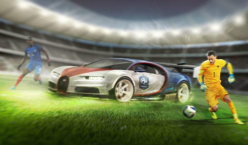 Bugatti Chiron équipe de France