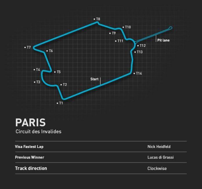 Tracé ePrix Paris Invalides